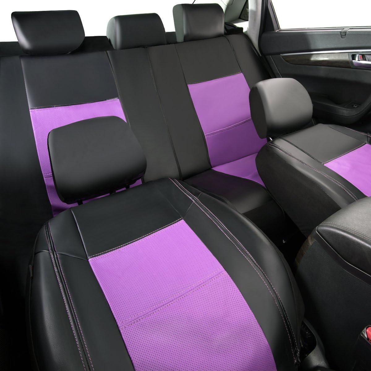 New arrival- Pass Skyline PU-Leder Autositzbez/üge Fahrzeuge Universal Passform f/ür Autos SUV
