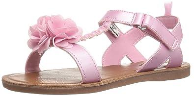 OshKosh B'Gosh Pasha Girl's T-Strap Sandal, Pink, 3 M US
