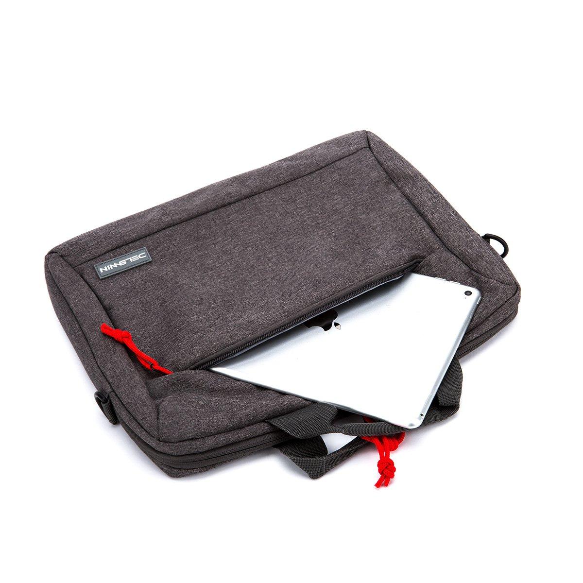 14 Inches Laptop Briefcase Sleeve - Lightweight Laptop Shoulder Messenger Bag Business Carrying Handbag for School/Travel/Women/Men (14.1, Gray)