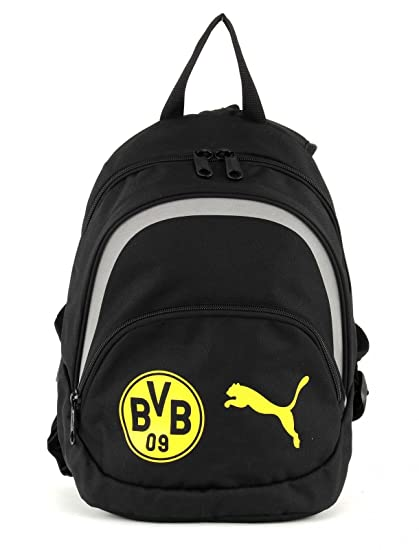 a97d93c401690 PUMA Kinder Rucksack BVB Kids Backpack Black-Cyber Yellow
