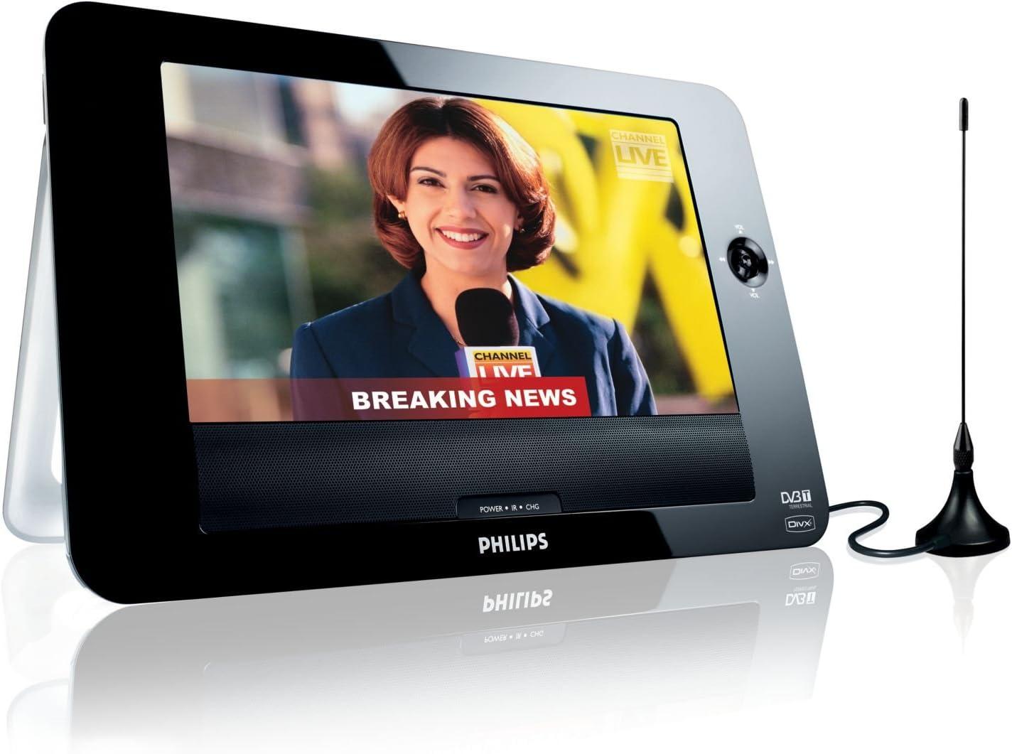 Philips PD8015/12 DVD y televisor portátil USB con LCD de 21,3 cm ...