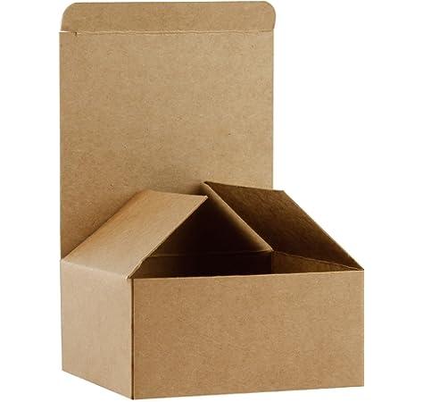RUSPEPA Cajas De Regalo De Cartón Reciclado - Caja De Regalo Pequeña con Tapas para Pulseras, Joyas Y Regalos Pequeños - 10.5X10.5X5.2 Cm - Paquete De 30 - Kraft: Amazon.es: Hogar