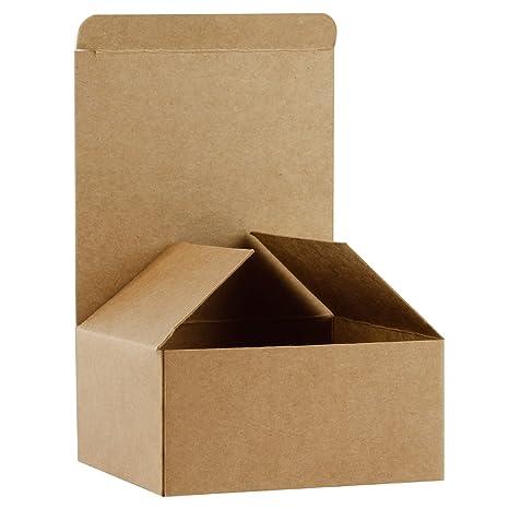 RUSPEPA Cajas De Regalo De Cartón Reciclado - Caja De Regalo Pequeña con Tapas para Pulseras, Joyas Y Regalos Pequeños - 10.5X10.5X5.2 Cm - Paquete De ...