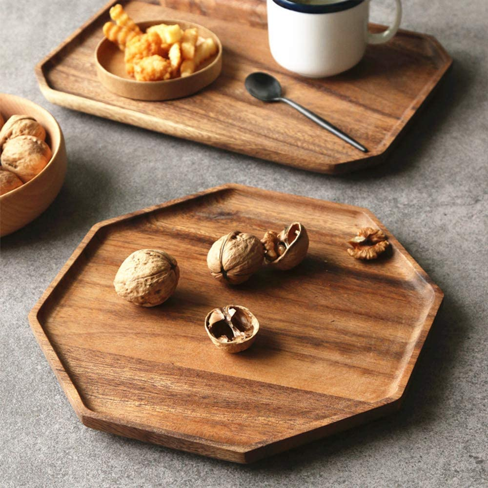 CRAFTY CAPERS Set of 3 Shallow Hexagonal Wooden Tray for Miniature Gardens /& Table Centres