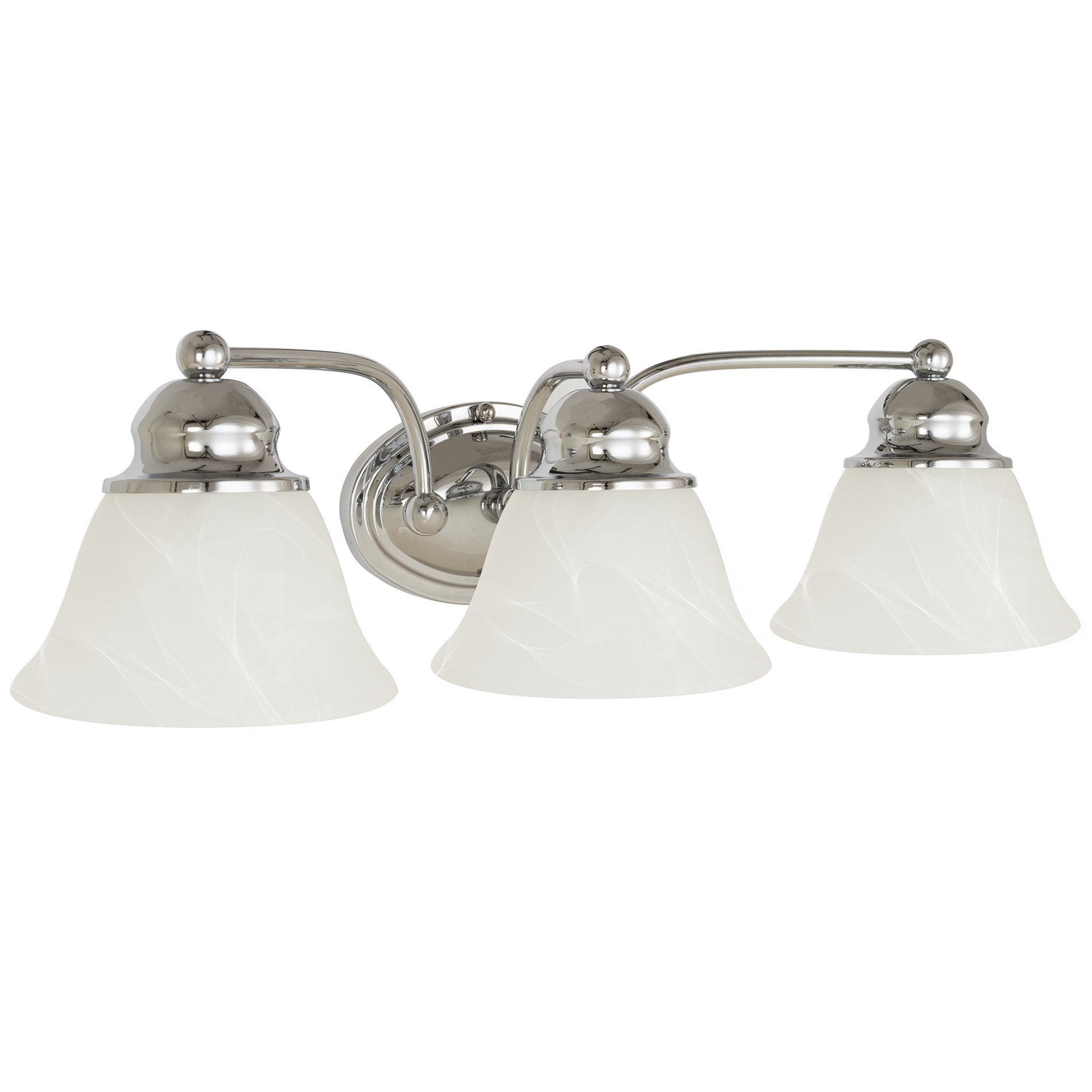 Revel/Kira Home Carlisle 21'' 3-Light Vanity/Bathroom Light with Alabaster Glass, Polished Chrome