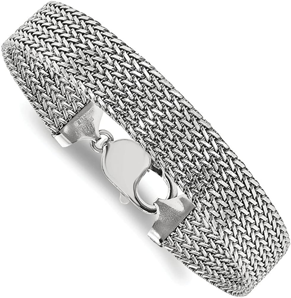 with Secure Lobster Lock Clasp 4mm Solid 925 Sterling Silver Cuban Curb Link ID Bracelet