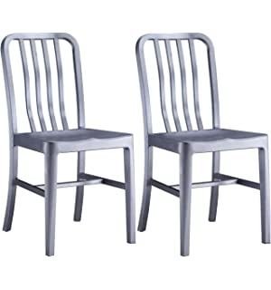 Alex Land Modern Stainless Steel Dining Chair   Indoor Or Outdoor (Pack Of  2)