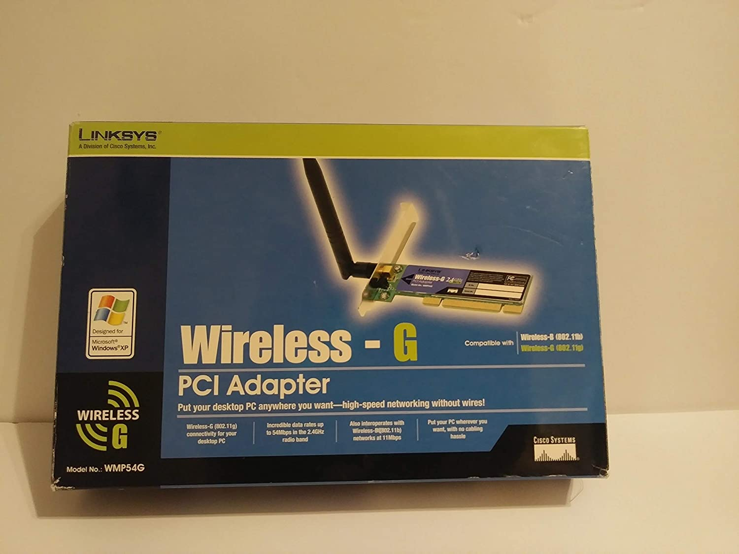 Cisco-Linksys WMP54G Wireless-G PCI Adapter