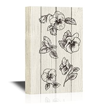 Amazon Com Wall26 Pansy Flower Canvas Wall Art Pansy Flower