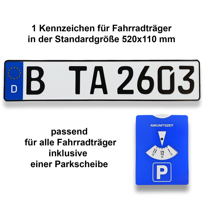 Certificato 1 portabiciclette Targa | DIN e riflettenti TA TradeArea Net UG