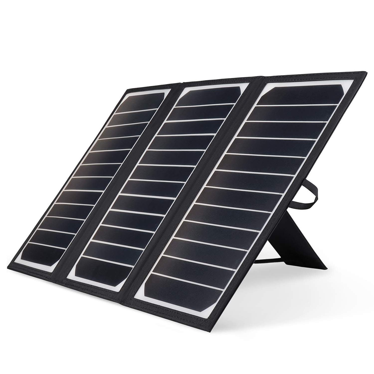 Kingsolar Solar Charger 21W Portable Solar Panel Charger with 2 USB Ports, Waterproof Camping Foldable Portable Solar Charger for Cell Phone Tablet GPS iPhone iPad Camera Electronic Device by KINGSOLAR