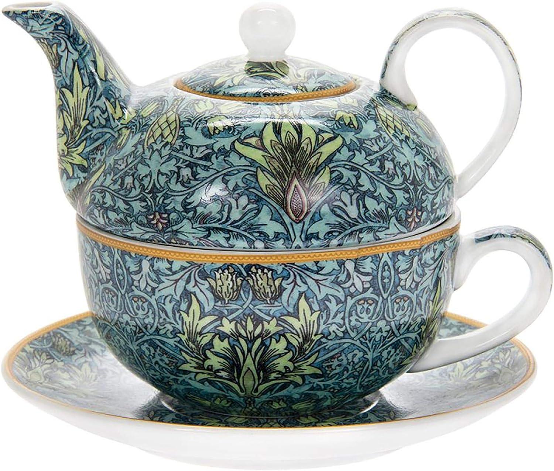 Juego de Taza y platillo The Leonardo Collection William Morris Porcelana dise/ño de Cabeza de Serpiente