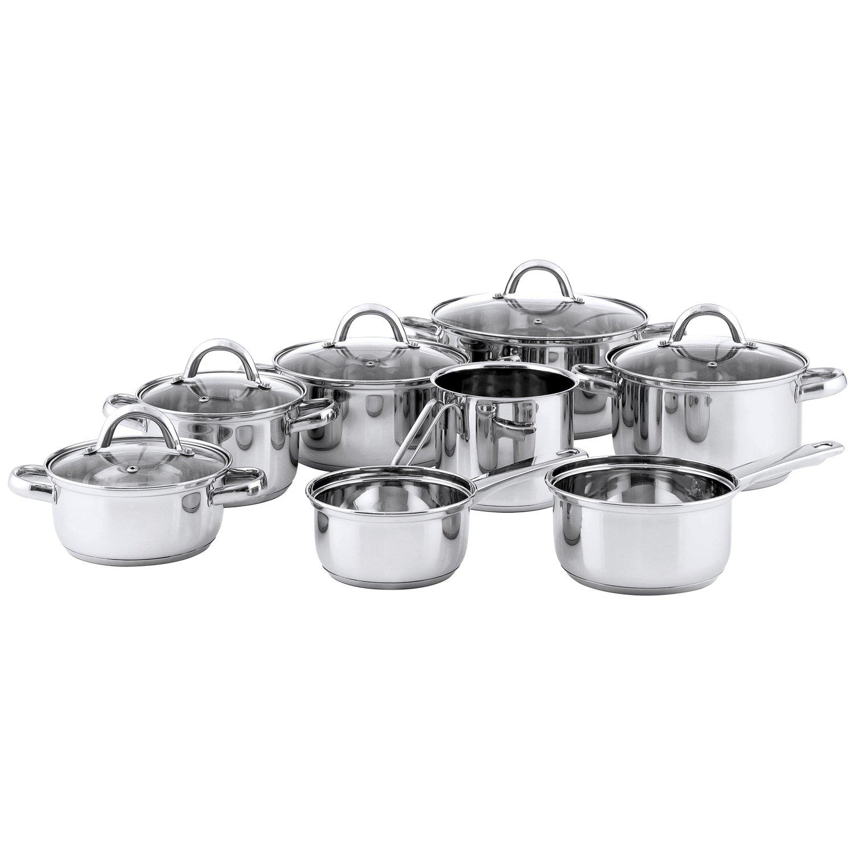 Quid Ottawa Bater A De Cocina De 8 Piezas Con Tapas De Vidrio  ~ Baterias De Cocina Para Placas De Induccion