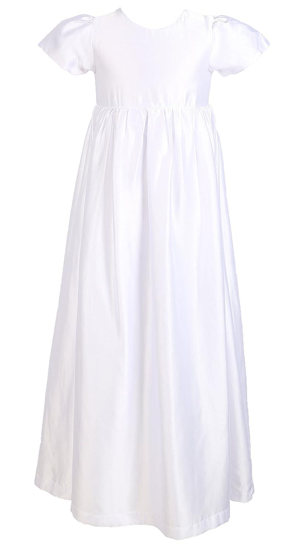 for 0-18 Months Lace Mesh Dress, Satin Gown, Bonnet Baby Girls Baptism 3PCS Set