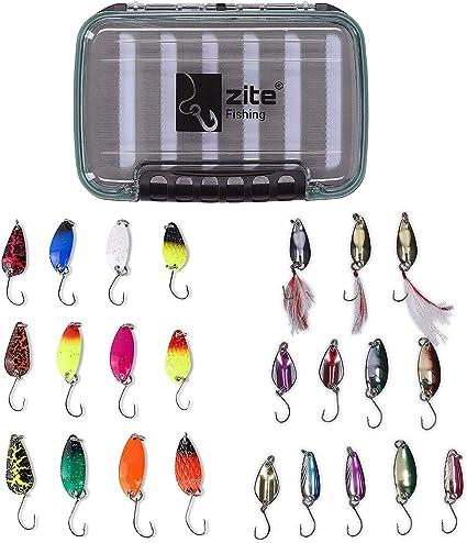 Forellenblinker Box Trout Spoon Set 12 Blinker Forelle Angeln Köder Zite Fishing