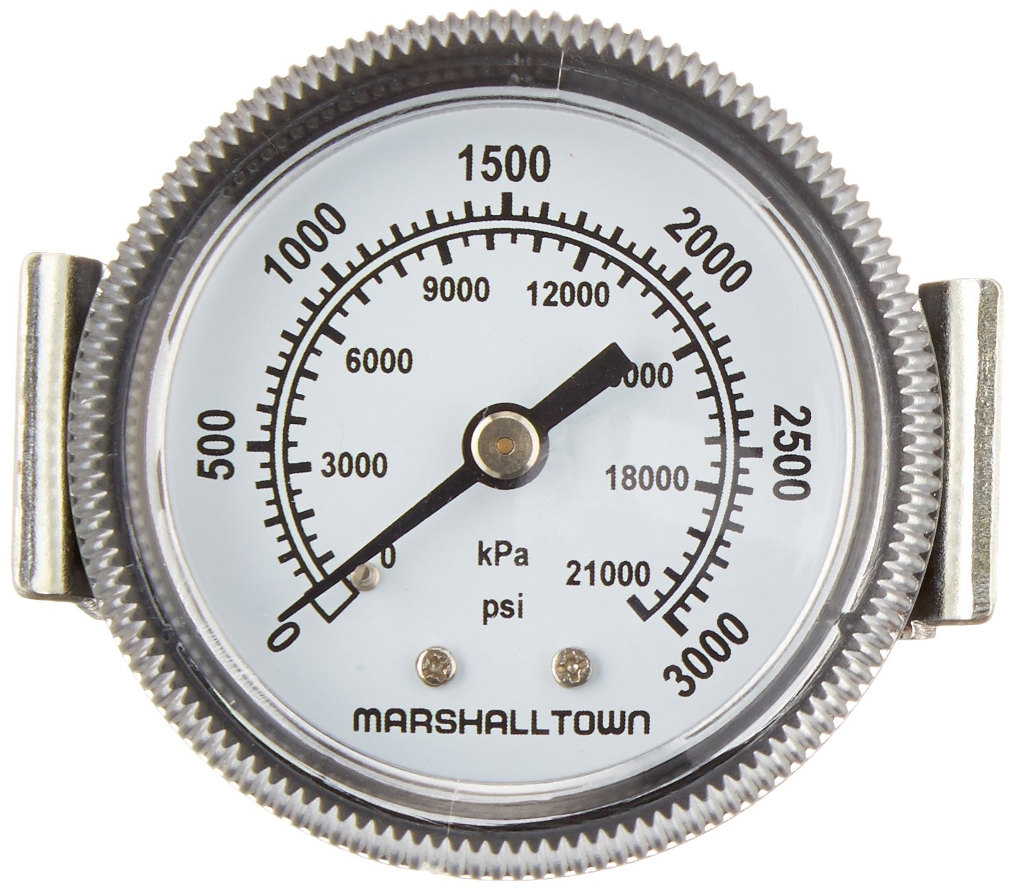2 U-Clamp Mount 0-3000 PSI 2 1//4 NPT Marsh Bellofram GG203000U4 Marshalltown Value Series Gauge 1//4 NPT