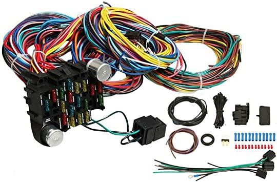 amazon.com: vowagh universal extra long wires 21 circuit wiring harness  hotrod fit for gm chevy: automotive  amazon.com