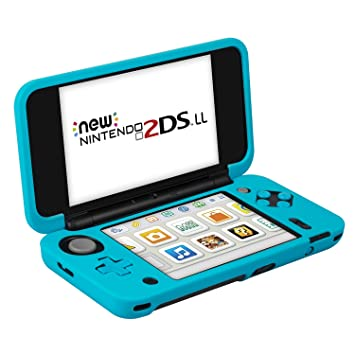 Funda para Nintendo New 2DS XL (Azul) – Keten Funda de Silicona Antideslizante para Nintendo New 2DS XL (2017) - Funda Protectora de Diseño Ligero ...