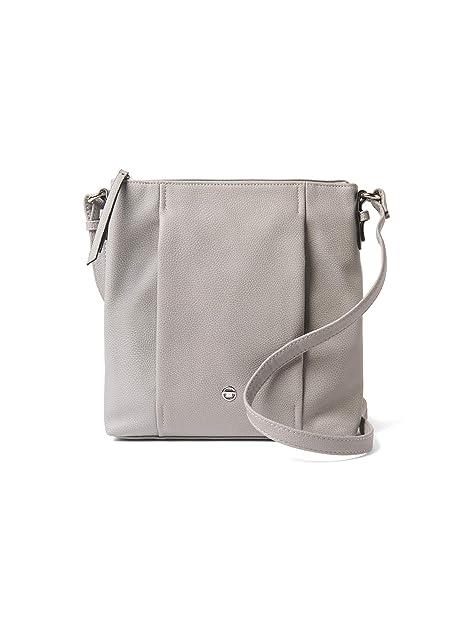 Tamaris Damen Handtasche Khema Crossbody Bag S Schultertasche hell grau