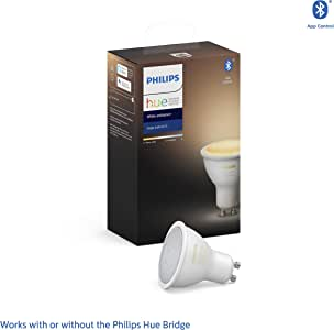 Philips Hue White Ambiance LED Smart Spot Light GU10 (Latest Model, Compatible with Bluetooth, Amazon Alexa, Apple HomeKit, and Google Assistant)