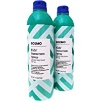 Amazon Brand - Solimo Kids' Continuous Spray Sunscreen, SPF 50, Hypoallergenic, Reef Friendly (Octinoxate & Oxybenzone…