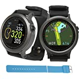 Golf Buddy WTX Smart Golf GPS Watch GolfBuddy Rangefinder Gift Bundle comes with 1 extra Wristband - Pick the Color!