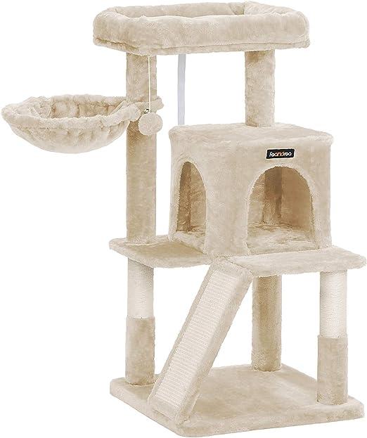 FEANDREA Árbol para Gatos, Torre de Gato con Gran Pedestal, Rascador, Beige PCT51M: Amazon.es: Productos para mascotas