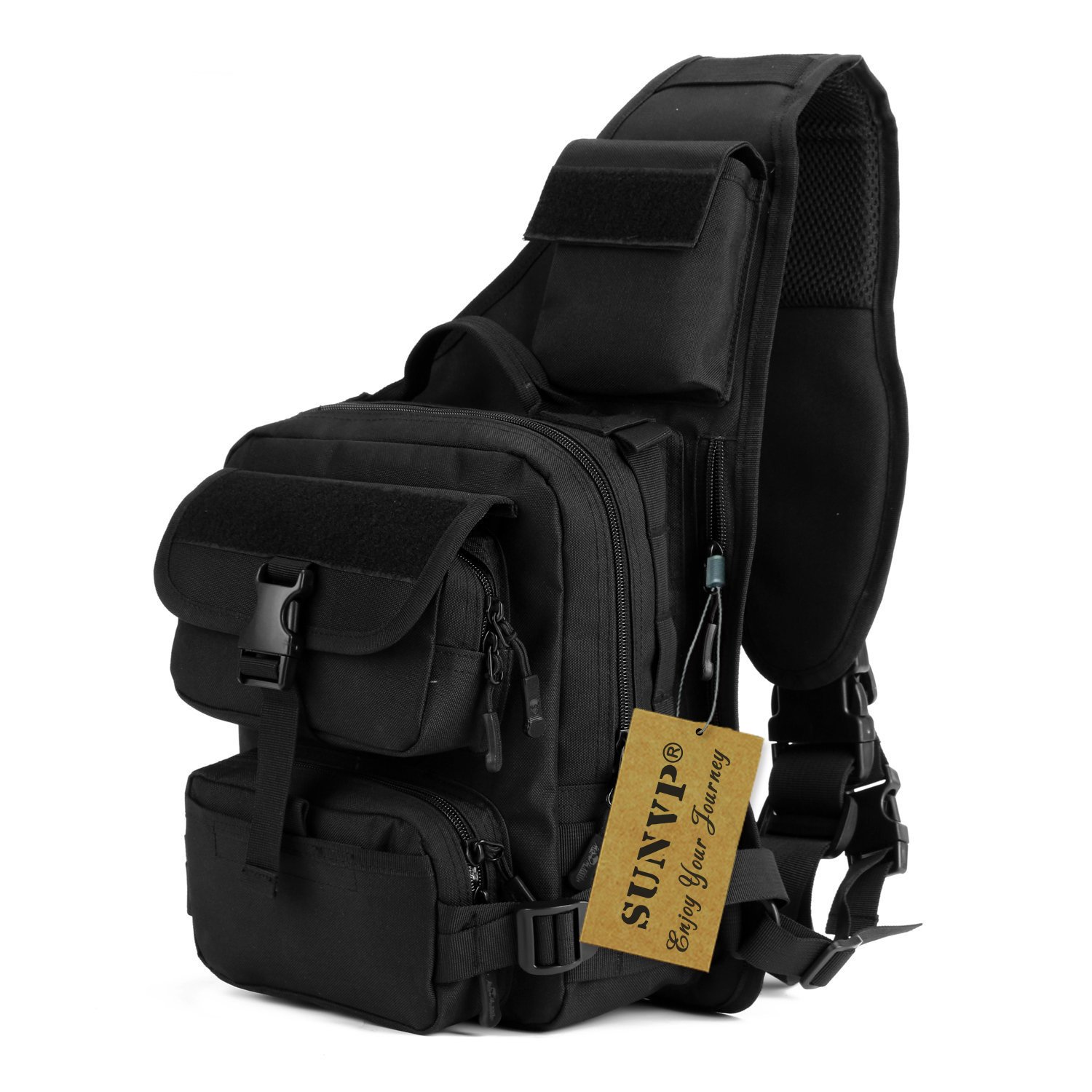 protector plus tactical military sling chest pack bag