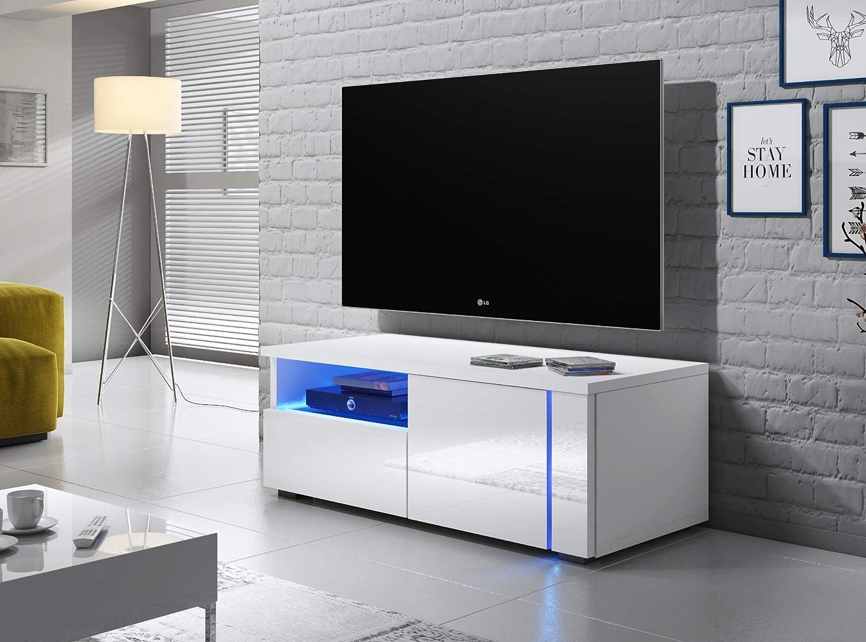 Selsey OXY Double - Mueble para televisor (2 Unidades, 200 cm), Color Blanco: Amazon.es: Hogar