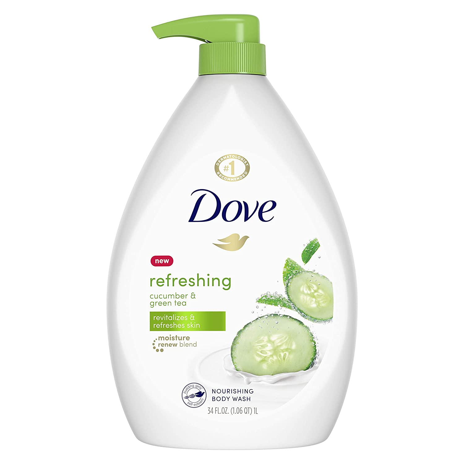 Amazon Com Dove Go Fresh Refreshing Body Wash With Pump Revitalizes And Refreshes Skin Cucumber And Green Tea Effectively Washes Away Bacteria While Nourishing Your Skin 34 Oz Beauty