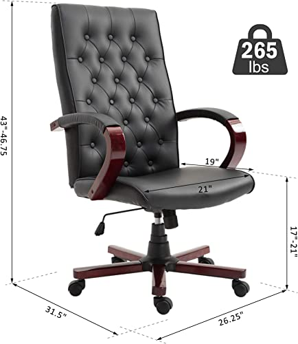 Leather Executive Home Office Chair Leather Office Chair