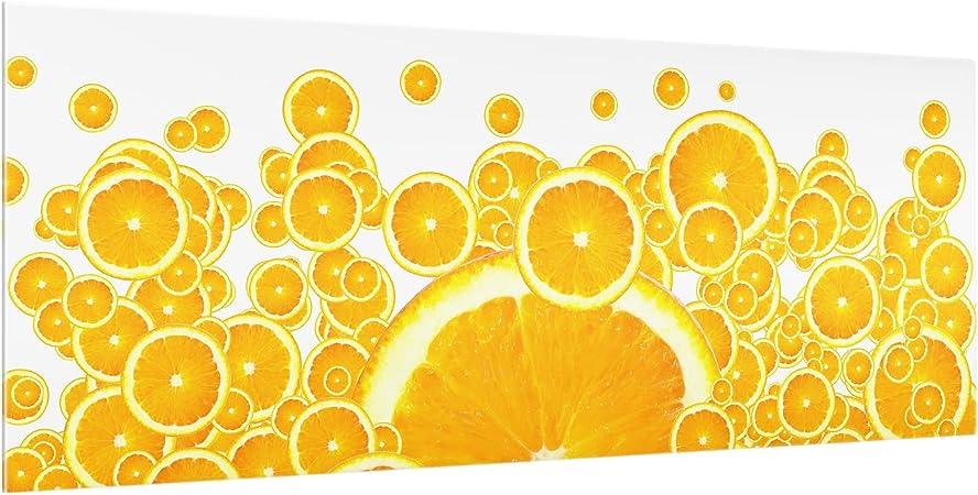 Bilderwelten Crédence En Verre Retro Orange Pattern