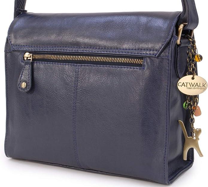 Vintage Cuir V/éritable Sac Bandouli/ère//Besace//Messenger//Sac /à Main//Sac Port/é Crois/é DIANA Femme Compatible avec iPad//Tablettes//Kindle Catwalk Collection Handbags