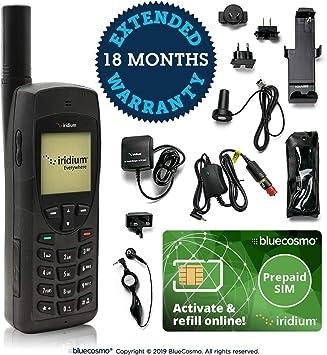 BlueCosmo Paquete de teléfono satelital Iridium 9555 (Voz, Mensajes de Texto SMS: Amazon.es: Electrónica
