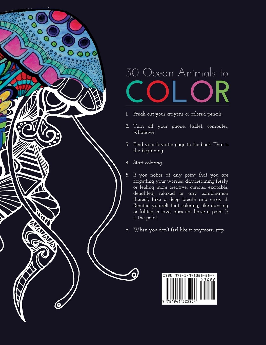 coloring book ocean animal patterns amazon co uk