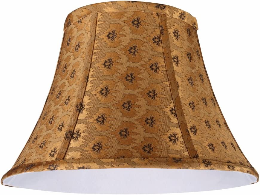 Aspen Creative 30182 Transitional Bell Shape Spider Construction Lamp Shade in Pumpkin Gold, 17 wide 8 x 17 x 12