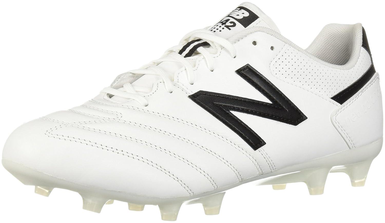 New Balance Men's 442 Team FG V1 Classic Soccer Schuhe, Weiß schwarz, 8.5 D US