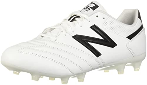 498a96dcb0dcd New Balance Men's 442 Team FG V1 Classic Soccer Shoe, White/Black, 6.5