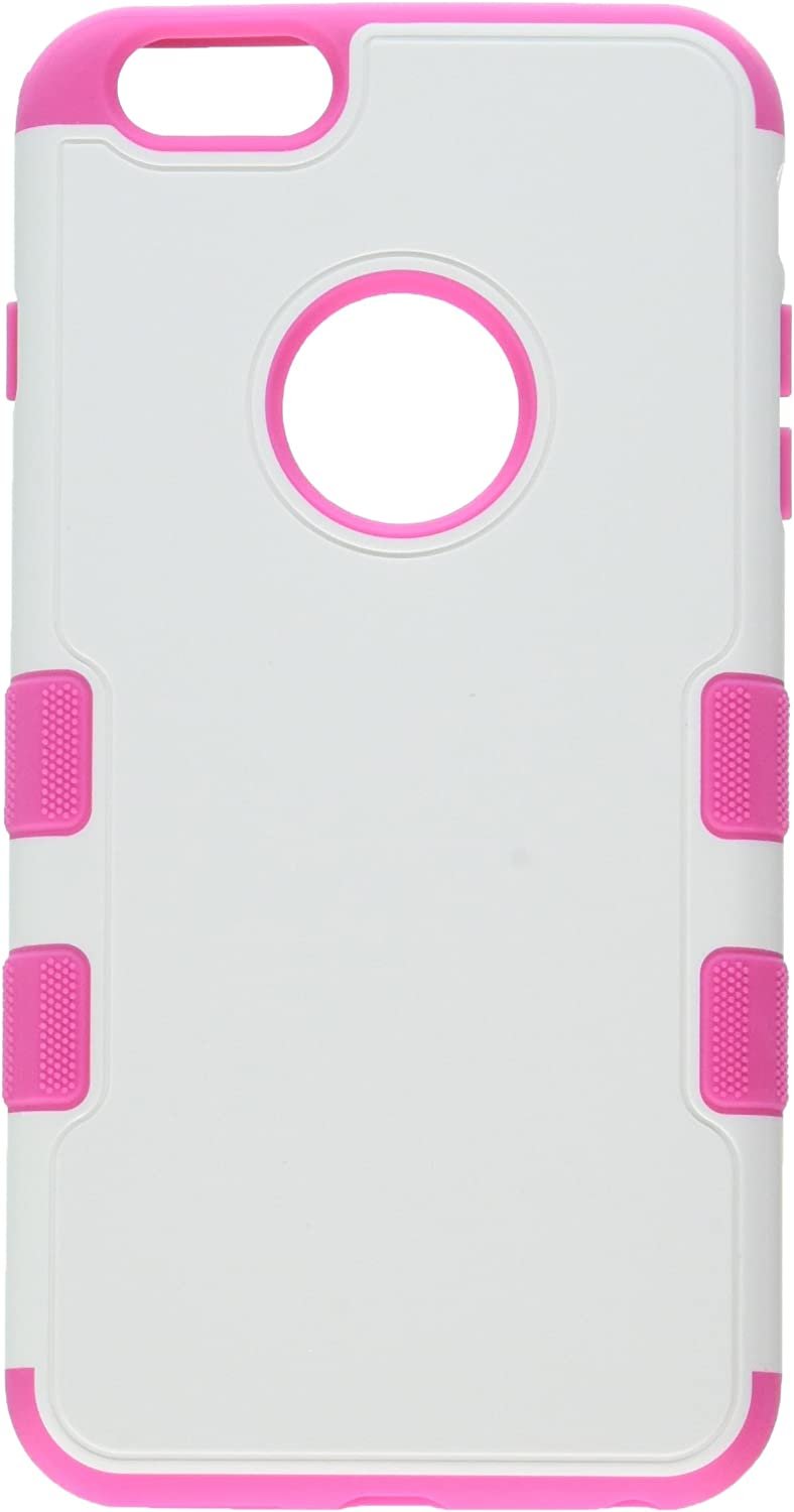 MyBat iPhone 6 Plus TUFF Merge Hybrid Protector Cover - Retail Packaging - Pink/White