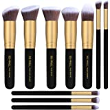 BS-MALL New Premium Synthetic Kabuki Makeup Brush Set Cosmetics Foundation Blending Blush Eyeliner Face Powder Brush Makeup Brush Kit