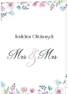 Hochzeitskarte Mrs Mrs Gleichgeschlechtlich Lesbisch Incl Kuvert