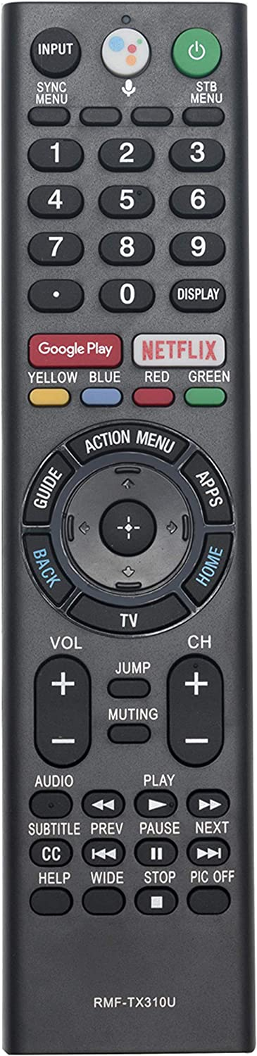 VINABTY Replaced Voice Remote fit for Sony Smart 4K TV XBR65X900F XBR75X900F XBR85X900F XBR55X900F XBR49X900F XBR55X800G XBR75X800G XBR49X800G XBR65X800G XBR43X800G XBR75X850F XBR85X850F