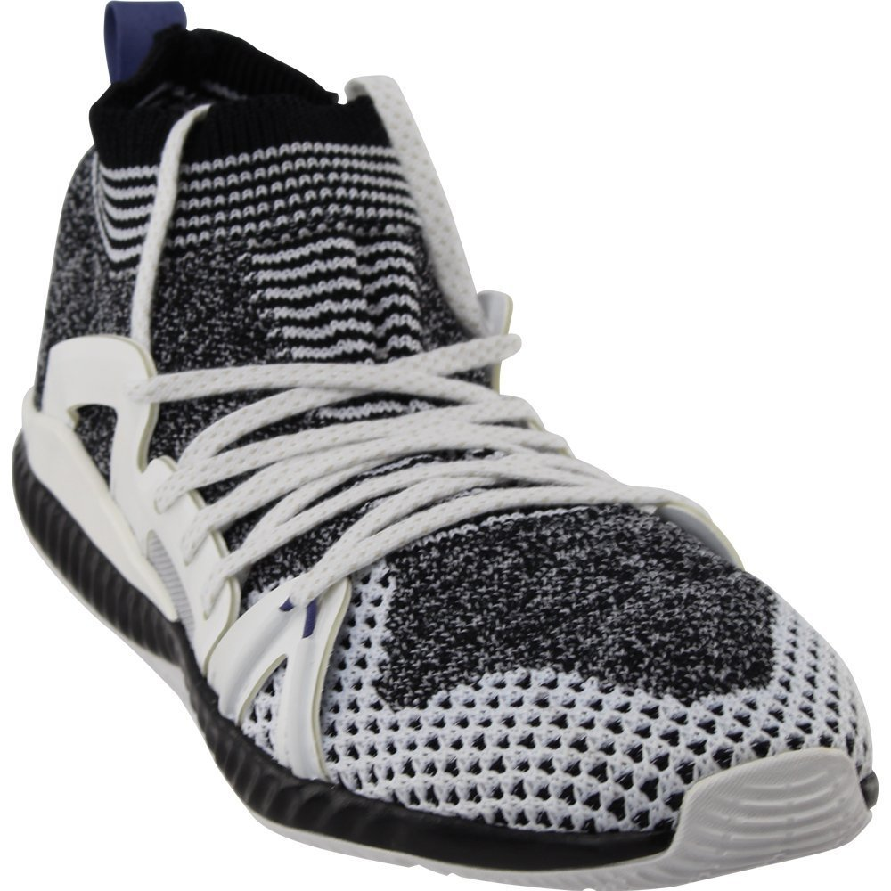 adidas by Stella McCartney Women's Crazymove Bounce Sneakers B01MTA45Y1 7.5 B(M) US|Black/White/White/Black/Plum