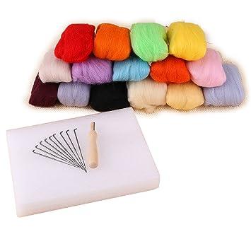 Amazonde 15 Stk Farben Aus Filz Wolle Nadeln Häkeln Instrument