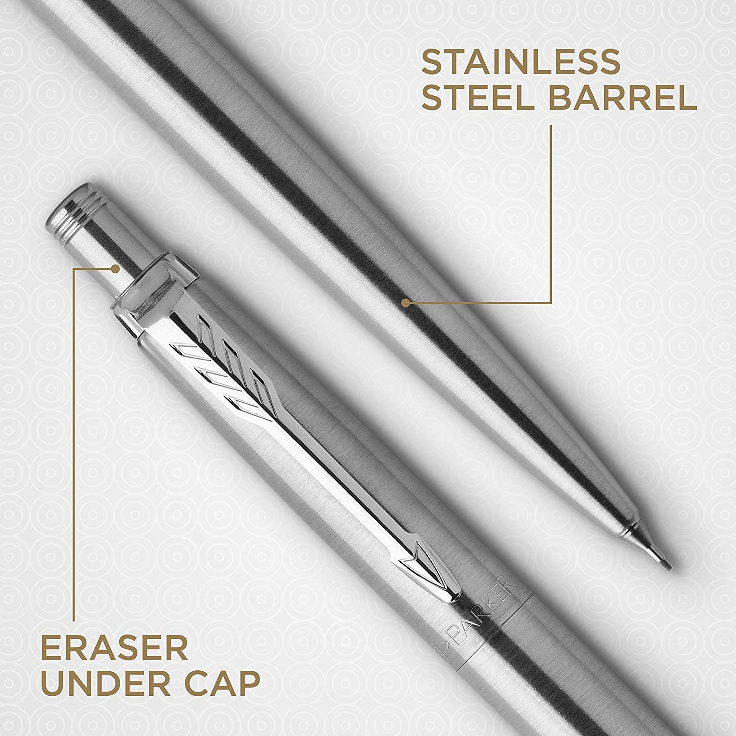 Gift Box Parker Jotter Rollerball Pen Fine Point Black Ink Stainless Steel with Chrome Trim