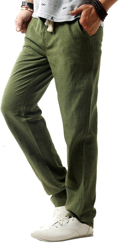 Sportivi Casual Giovent/ù e Popolare Pantaloni di Lino Minetom Pantaloni da Uomo
