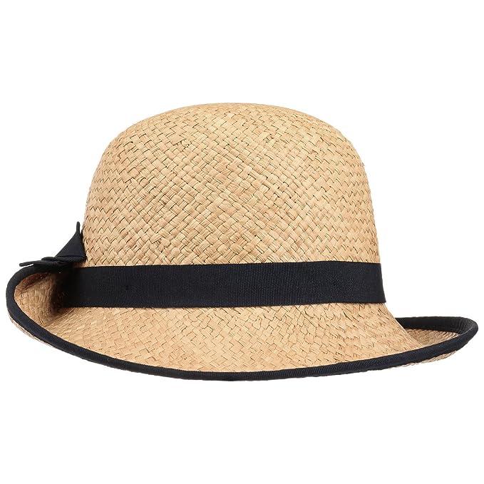 Sombrero de Mujer Fanamia Rafia by bedacht sombrero de pajasombrero de rafia  (talla única - natural-azul)  Amazon.es  Ropa y accesorios b9a2fb133c60