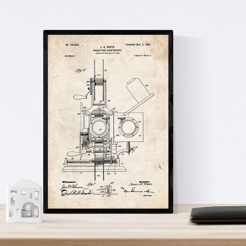 Set de Laminas de Patentes de Fotografia 250 gr A4 Size - Negro ...