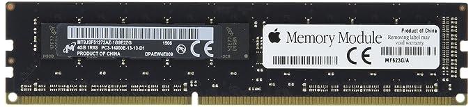 Apple MF623G/A 4GB 1866MHz DDR3 ECC SDRAM DIMM, 1 x 4GB Memory Module Internal Memory Card Readers at amazon