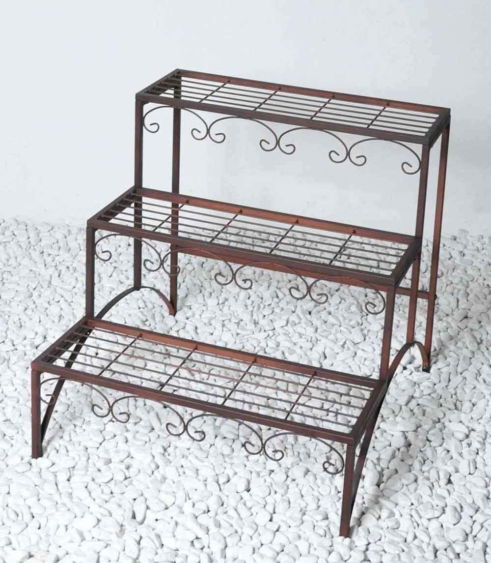Macetero Escaleras Fidelio metal ancho 58 cm Estantería Flores Soporte para estantería: Amazon.es: Jardín